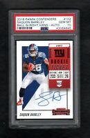 2018 Panini Contenders #102 SAQUON BARKLEY Giants RC Rookie Auto PSA 10 Gem Mint