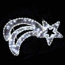 White LED Rope Light And Tinsel Comet Star Christmas Decoration Indoor/Outdoor