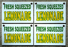 4 Fresh Squeezed Lemonade Coroplast Signs New 8 X 12 Concession Stand