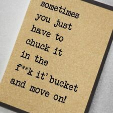 Counting Stars Greetings Card - Chuck It In The F**K It Bucket and Move On