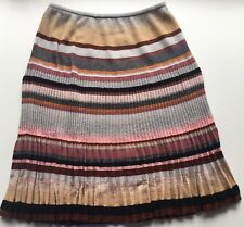 NWT Authentic Gorgeous Missoni Multicolor Knit Pleated Skirt Size 40 EU /6 US