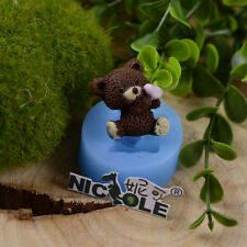Nicole Cute Bear Silicone Fondant Cake Decorating Tools Resin,Clay Crafts Molds