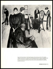 The Death Chamber—Edvard Munch—Vtg Book Art Print 8.5x11""