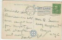 u.s naval training station 1937 stamps cover ref 13190