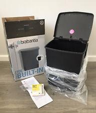 BRABANTIA 10L Built-In Bin - RUBBISH BIN FIR CUPBOARD Black - IN BOX NEVER USED
