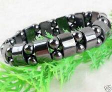 Beautiful Black Magnetic Hematite Bracelet Therapy Healthy men's women's bangle