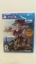 NEW! Monster Hunter World Playstation 4 PS4 Capcom FACTORY SEALED! Horizon Zero.