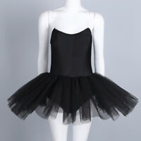 Women Professional Ballet Dance Dress Strapless Gymnastics Leotard Tutu Skirts