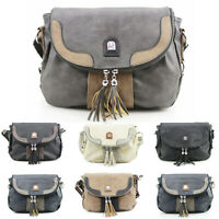 Women's Tassel Crossbody Bag Ladies Messenger Shoulder Handbag New UK