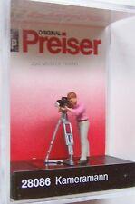 HO Preiser 28086 Camera Man with Movie Camera  : 1/87 scale Individual Figure