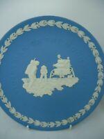 Wedgwood Moon Landing Plate 1969 Apollo 11 Jasperware Blue 21 cm Vintage British
