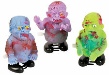 3 Windup Zombies - Set of Three Walking Toys Dead Halloween Scary Desk Toy - NEW