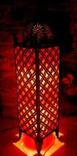 Red Moroccan style metal floor lamp from Bali 1 metre high