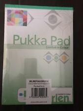 6x Pukka GREEN Coloured Lined Ruled Writing Dyslexia Irlen Notepads Margin 100pg