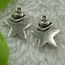 free ship 180 pcs tibet silver star charms 19x15mm #2816