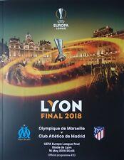 off. Programm UEFA EL Finale 2018 Olympique Marseille - Atletico Madrid