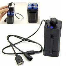 8.4V USB batterie compartiment de étanche pour lampe vélo sans 18650