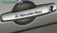 4 Pegatinas sticker Mercedes benz manetas detalle elegante 8 cm