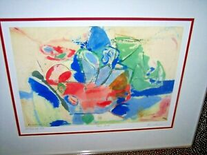 """FRAMED LIMITED EDITION SERIGRAPH-""""MOUNTAIN AND SEA 1952"""" BY HELEN FRANKENTHALER"""