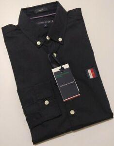 Tommy Hilfiger Men's Slim Fit Oxford Shirt With organic Cotton, BLACK