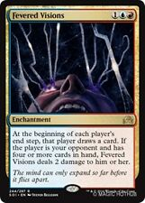 FEVERED VISIONS Shadows over Innistrad MTG Gold Enchantment Rare