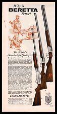 1959 BERETTA Silver Snipe, Hawk, Pigeon Shotgun AD Hunter w/ English Setter Art