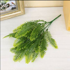 Green Artificial Fern Bouquet Silk Fake Persian Leave Foliage Home Office Decor