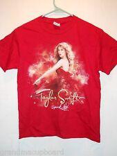 2 Sided TAYLOR SWIFT 2011 Speak Now World Concert Tour T-shirt Youth Medium NWOT