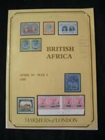 HARMERS AUCTION CATALOGUE 1980 BRITISH AFRICA with RHODESIA SEYCHELLES ETC