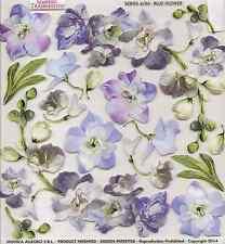 Sospeso TRASPARENTE 3d DECOUPAGE fiore blu stampato Film