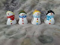 Walnut Creek 2004 Snowman Family Napkin Rings Set Of 4 In Box