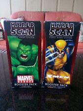 HYPER SCAN BOOSTER PACK XMEN HULK WOLVERINE HYPERSCAN X-MEN MARVEL SEALED LOT