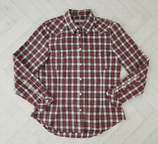 Women's Howies Organic Cotton Red Checked Shirt Size S 8 10