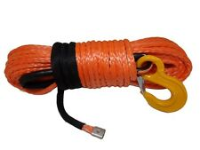 1/2inch*100 feet orange synthetic winch rope cable with thimble sheath and hook