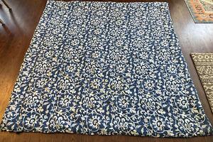 Full/Queen Ralph Lauren PERSIMMON Porcelain Floral Blue White Comforter Vtg USA