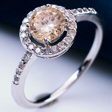Magnific Glittering Jewelry For Ladies White Gold Filled Cubic Zircon Rings