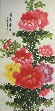 Chino entregado desplazamiento Color Pintura Peony Flor Pared o la Decoración del Hogar