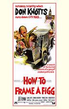 HOW TO FRAME A FIGG Movie POSTER 27x40 Don Knotts Elaine Joyce Frank Welker Joe