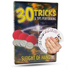 30 Tricks and Tips - Sleight of Hand - Magic Tricks DVD - New