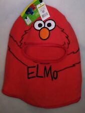 SESAME STREET KIDS 1 SIZE WINTER HAT FULL FACE PROTECTION ELMO ORANGE A-22