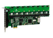 OpenVox A800E 8 Port Analog PCI-E Base Card, No Modules, Ethernet (RJ45)