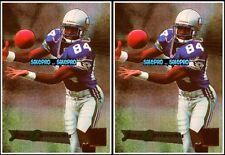2x FLEER METAL 1995 JOEY GALLOWAY NFL RC SEATTLE SEAHAWKS ROOKIE #181 CARDS LOT
