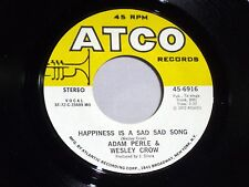 Adam Perle & Crowe:  Happiness is a Sad, Sad Song / A Silent Night  [Unplayed]