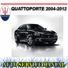 MASERATI QUATTROPORTE 2004-2012 WORKSHOP SERVICE REPAIR MANUAL ~ DVD