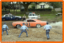 Dukes Of Hazzard General Lee Escaping Refrigerator / Tool Box Magnet