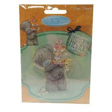 75 x 60mm Clear Stamp - Me to you Mothers day/Birthday Teddy & Cake Stand