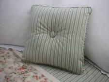 NEW Custom Ralph Lauren Cole Brook Stripe Throw Pillow 1 Button