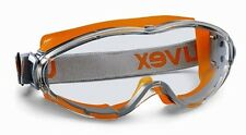 UVEX Ultrasonic 9302-245 Safety Goggles Anti Mist Scratch Clear Lens Orange Grey