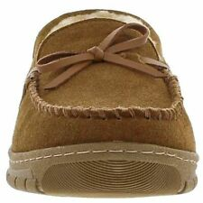 Eddie Bauer Men's Sharling Lined Moccasin Woodland Suede Slippers M L XL & XXL