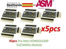 5pcs Pro Mini ATMEGA328P 5V/16MHz Module with Pin Header ENVIO RAPIDO